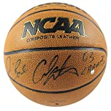 Jim Boeheim/Carmelo Anthony Dual Autographed NCAA Basketball With 03 Champs Insc - Certified Authentic Autograph