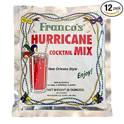 Amazon Com Franco S Hurricane Cocktail Mix 9 Ounce Pack Of 12