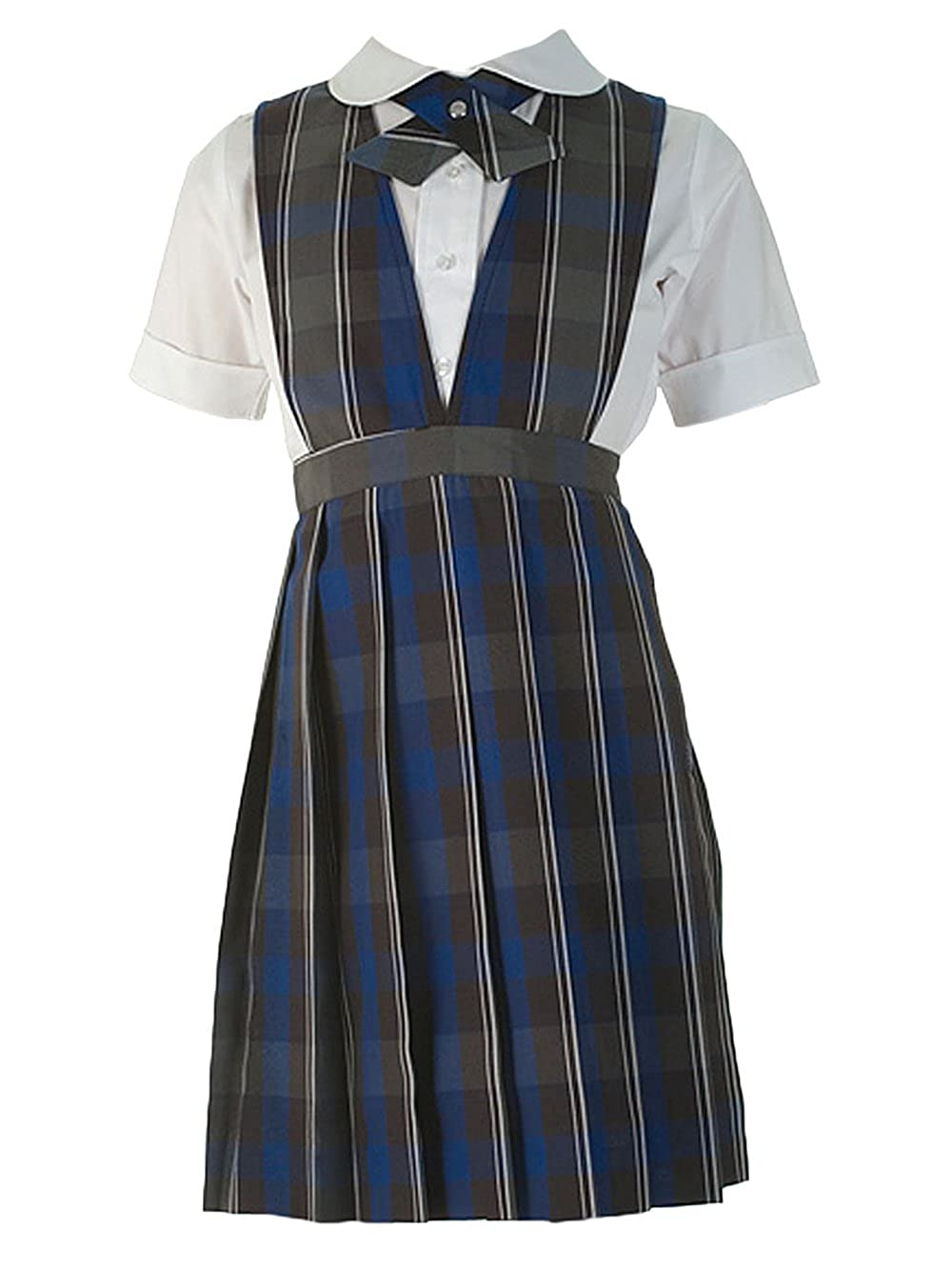 Cookie's Brand Little Girls' Jumper - gray/royal/whiteplaid #62, 6x Cookie' s Brand