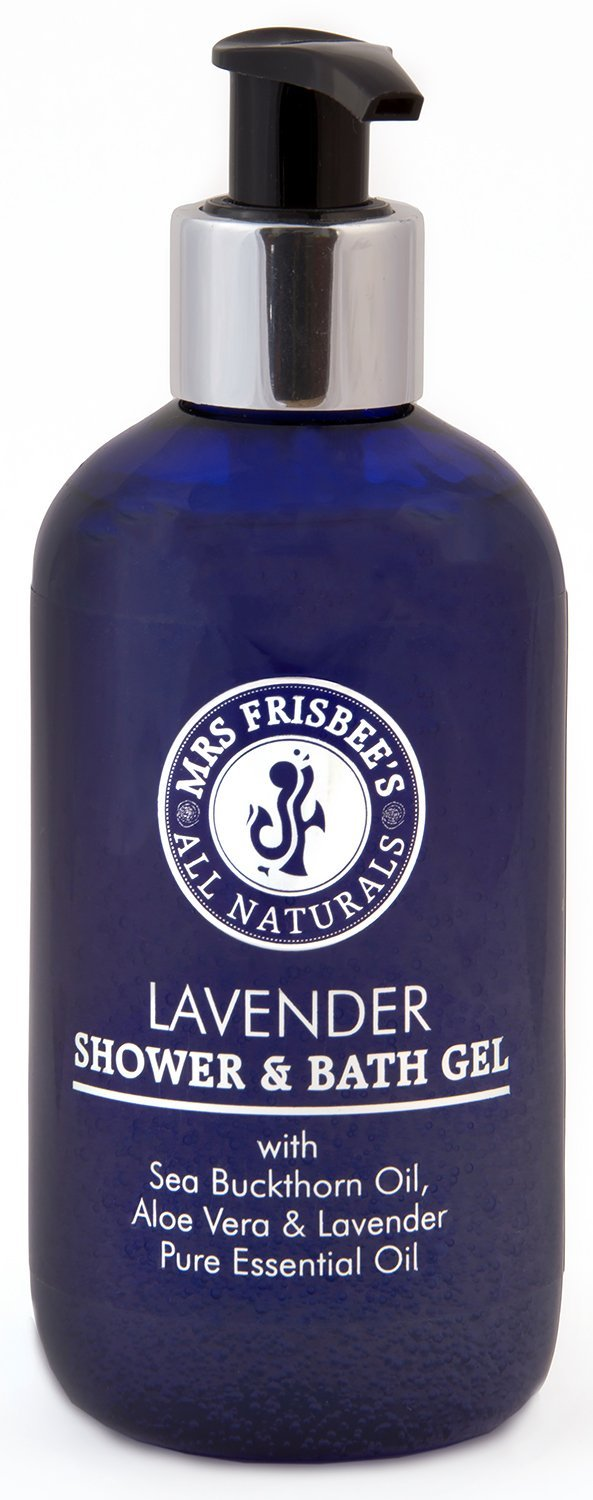 Mrs Frisbee's All Naturals Lavender Shower and Bath Gel With Sea Buckthorn Oil and Aloe Vera 0700621914426