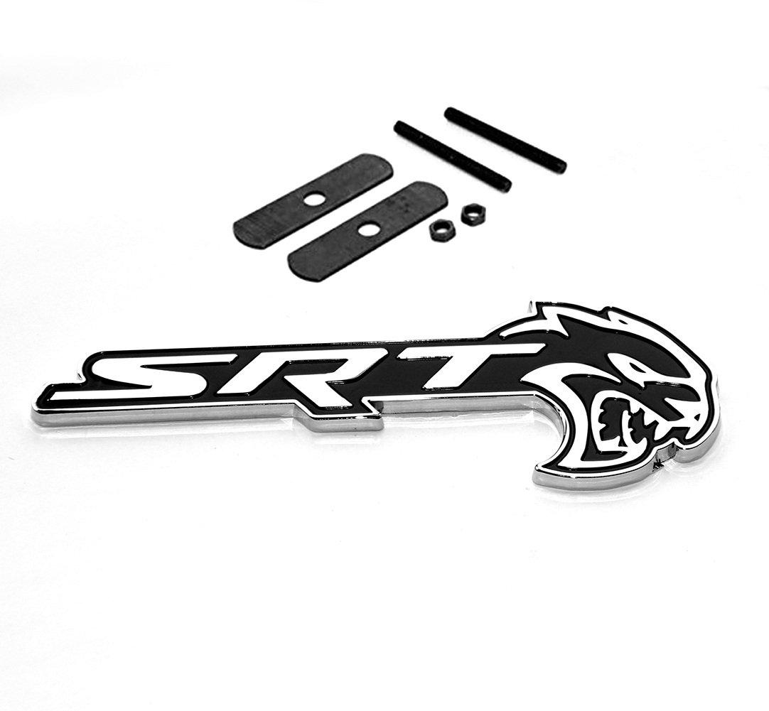 2x OEM SRT HELLCAT Badge Emblem Nameplate SRT8 Challenger Decal Red Sanucaraofo