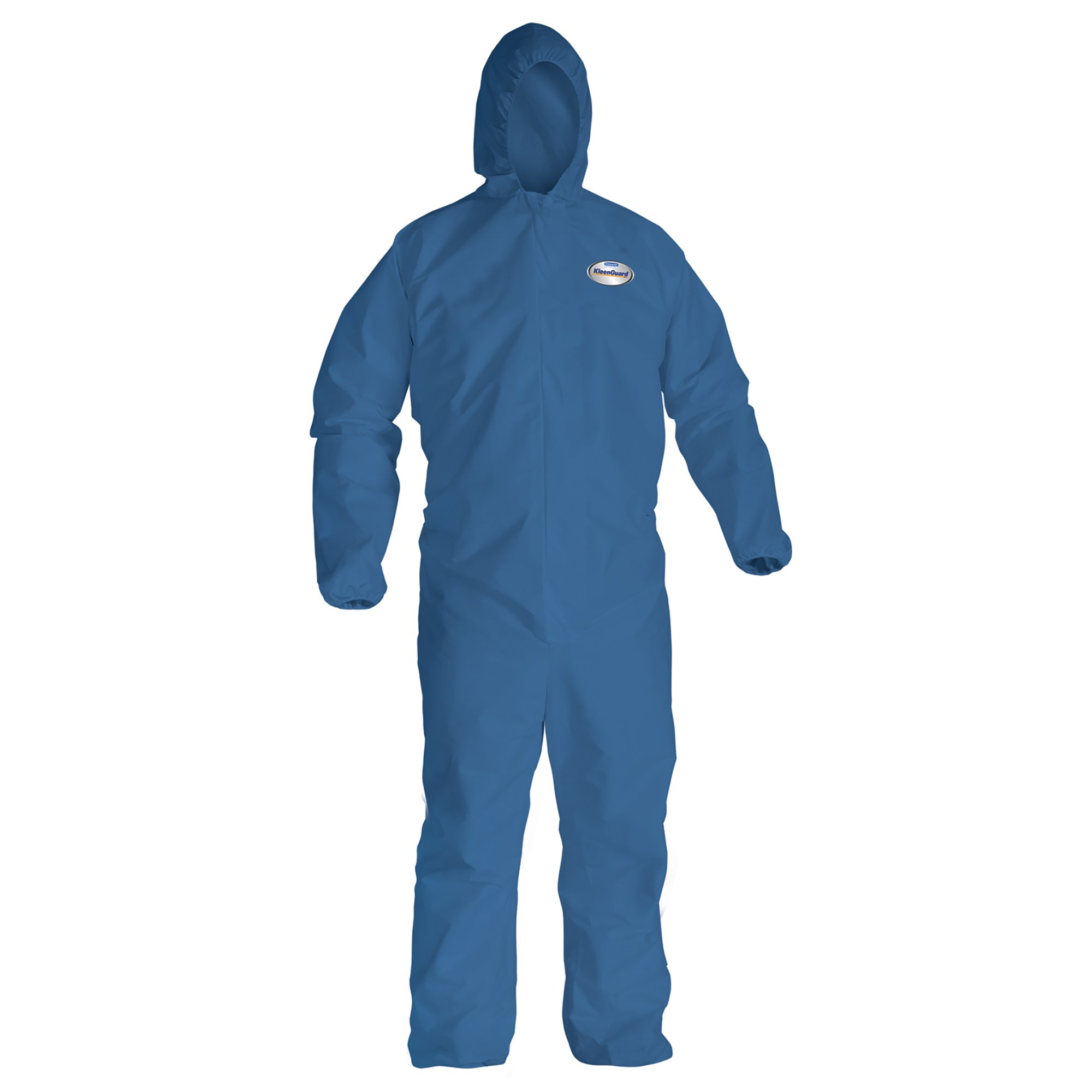 Kleenguard A20 Breathable Particle Protection Hooded Coveralls (58522), REFLEX Design, Zip Front, Hood, Boots, Blue, Medium, 24 / Case