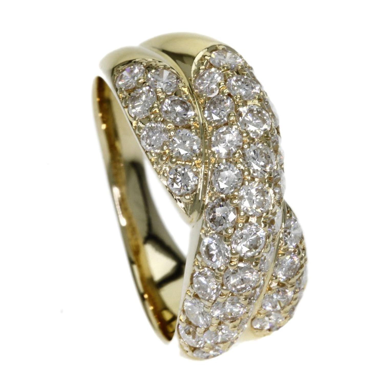 6.1g ダイヤモンド リング指輪 K18イエローゴールド レディース (中古) B077X53VLP