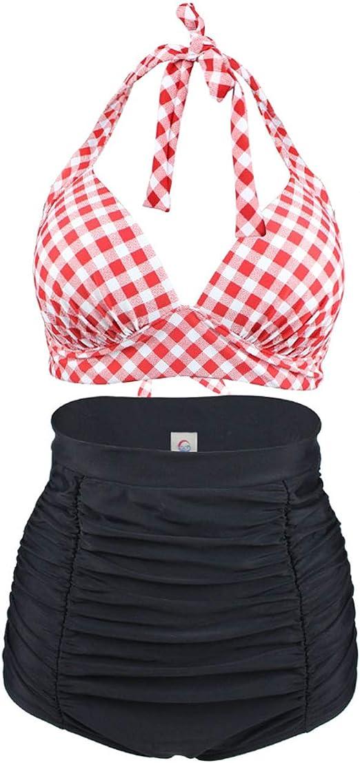 LA ORCHID Laorchid Damen Frauen hoher Taille Bikini Hose Shorts Bauchweg Boyleg Stil