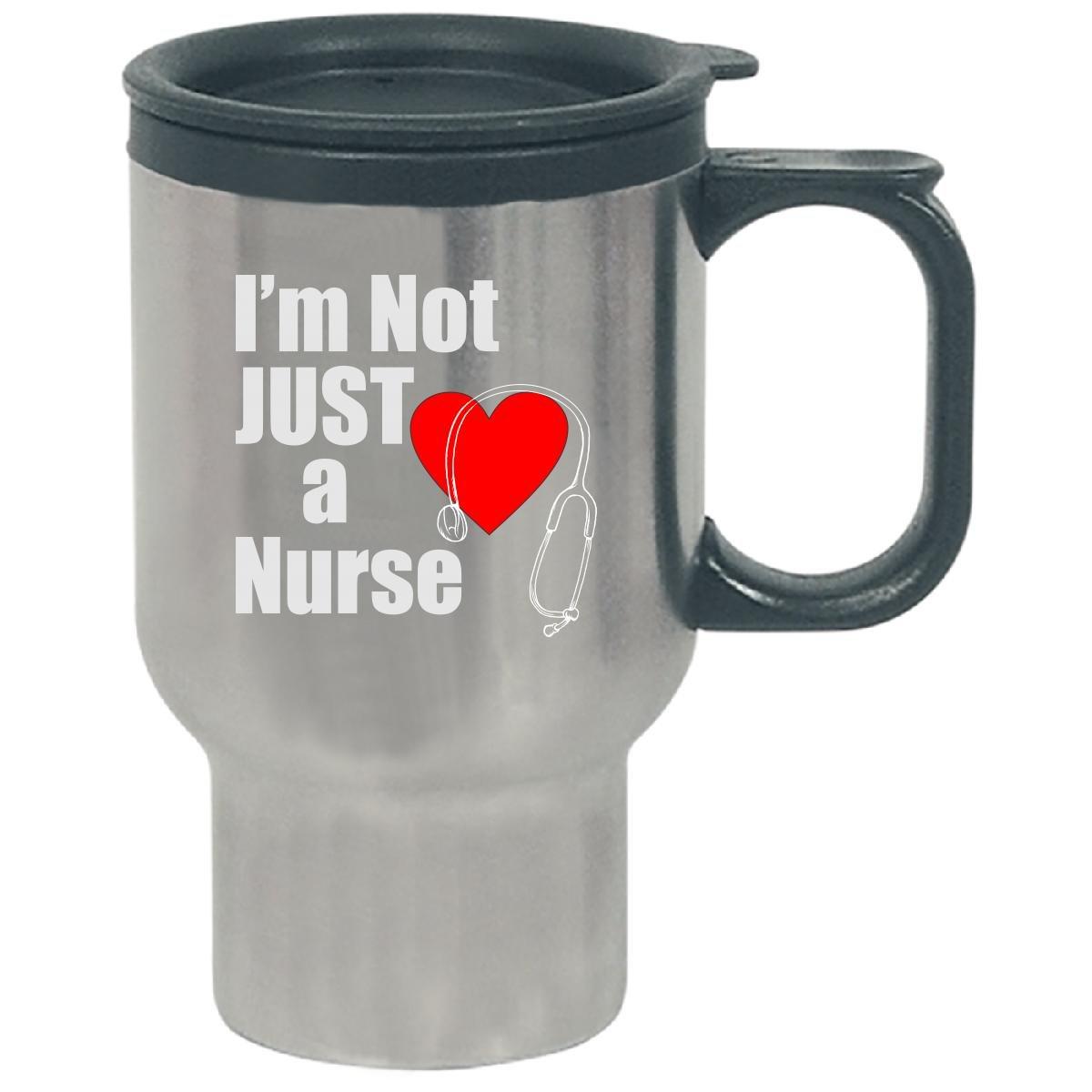 Im Not Just A Nurse With Stethoscope Love Heart - Travel Mug