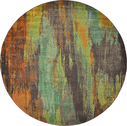 Modern Abstract 8 feet 0 inches Round (8' 0