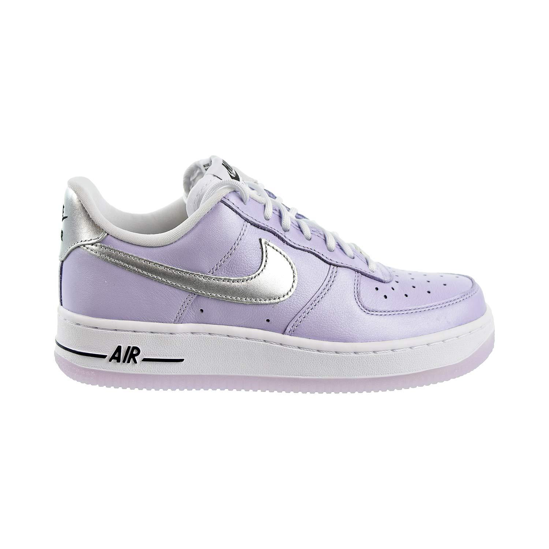 Nike Air Force 1 '07 Women's Shoes Oxygen Purple/Metallic Silver ci9912-500 (10 M US) by Nike