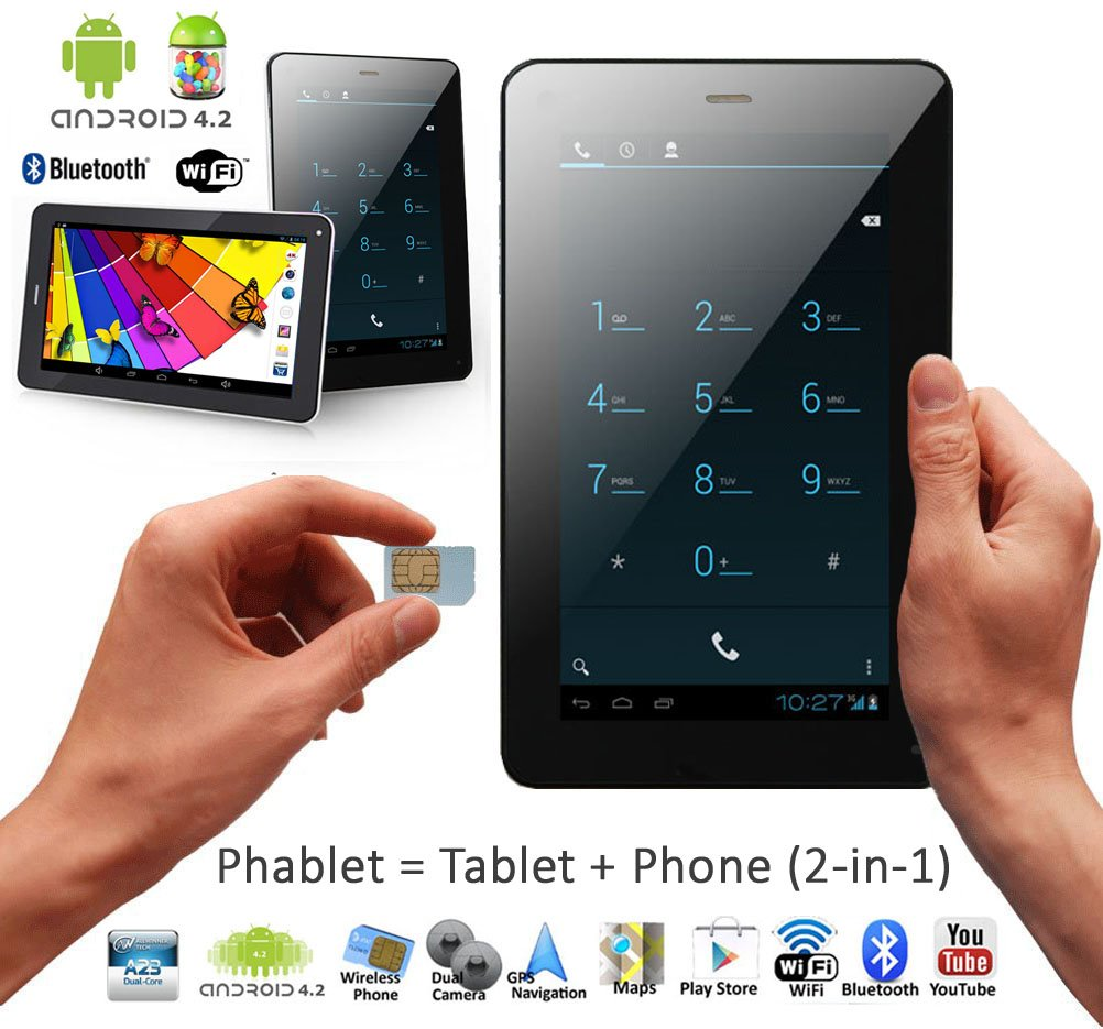 indigi A23-3G Android Smart Phone Tablet PC Bluetooth Google Play Store Unlocked