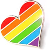 Compoco Pride Pin LGBTQ Gay Heart Flag an Enamel Pin Decoration for Clothes and Bags