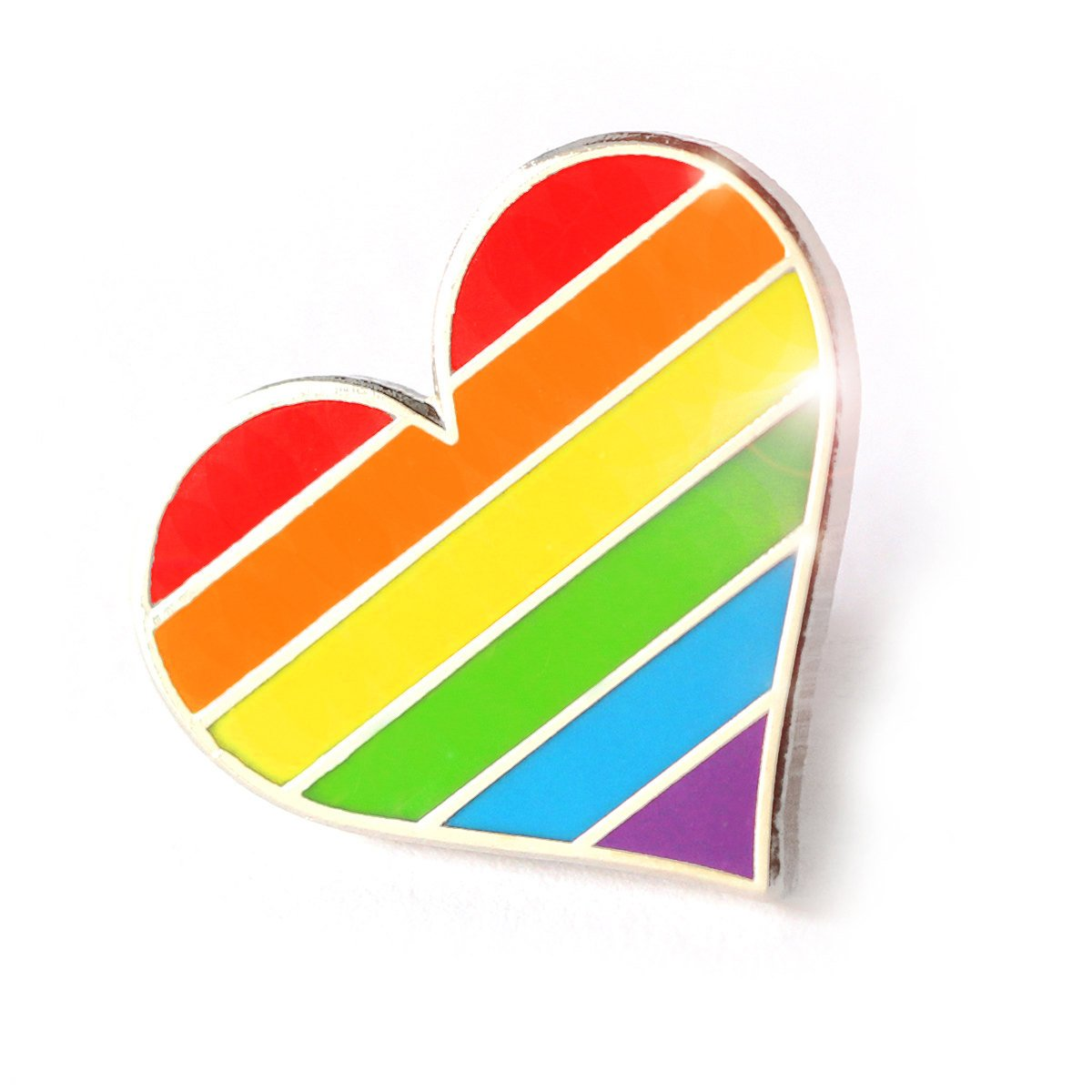Compoco Pride Pin LGBTQ Gay Heart Flag an Enamel Pin Decoration Clothes Bags a3