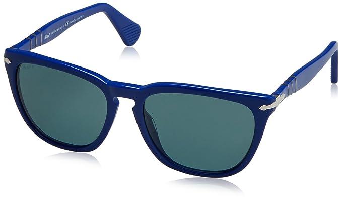 205f5be2df Persol Men s 3024 Blue Frame Blue Photocromatic Polarized Lens Plastic  Sunglasses
