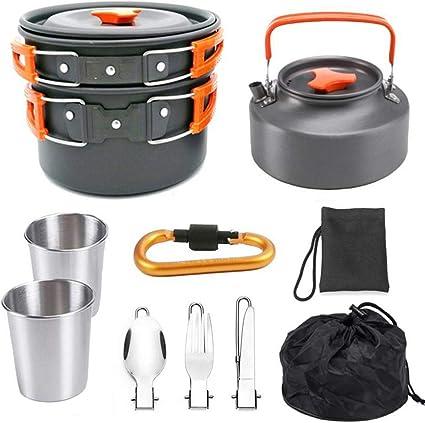 M-YN Utensilios Cocina Camping Kit 11pcs Cookware Que acampa ...