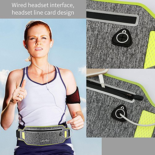 iPhone Running Belt iPhone 7 plus Waistband Sweatproof Running Pouch Belt for iPhone 6 Running Belt Fanny Packs for Women & Men, Reflective Waist Pack Belt