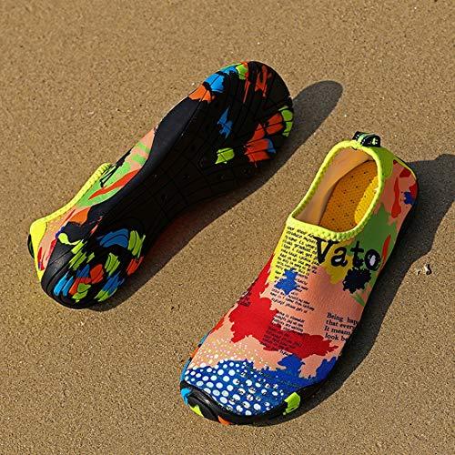 Neopre In Snorkeling Da Corsa Spugna Suole Mare Yoga Scoglio Immersione Con Spiaggia Per Surf Donna Uomo Multicolore1 Adulti Scarpette Unisex Scarpe Barefoot ARFnqzwxUq