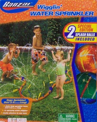 - Banzai Wigglin' Water Sprinkler Special Edition with 2 Splash Balls