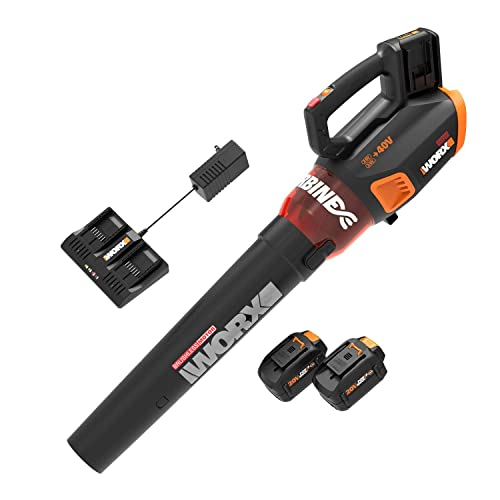 WORX WG584.1 40V 4.0Ah Lithium WORXAIR Turbine Blower Battery and Charger Included