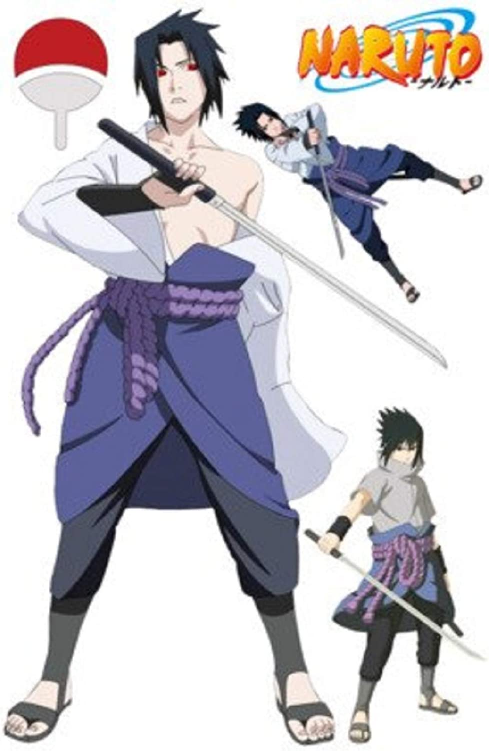 Sticker Naruto Anime 3d Visual Effect Wallpaper Naruto Sasuke Hatake Kakashi Jiraiya Itachi Mode 8 Amazon Ca Home Kitchen