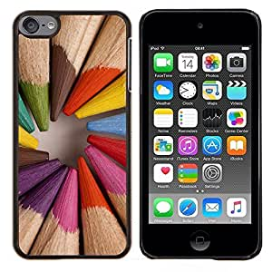 Eason Shop / Premium SLIM PC / Aliminium Casa Carcasa Funda Case Bandera Cover - Madera Pintor Artista - For Apple iPod Touch 6 6th Touch6