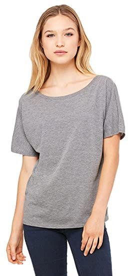 09f0ae6c Bella + Canvas Womens Slouchy T-Shirt (8816) GREY TRIBLEND at Amazon ...
