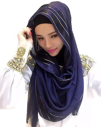 a27e344ded6 Feicuan Muslim Hijab Head Wrap Scarf Dubai Middle East Veil Long ...