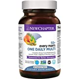 New Chapter Multivitamin for Men 50 Plus - Every Man's One Daily 55+ with Fermented Probiotics + Whole Foods + Astaxanthin +