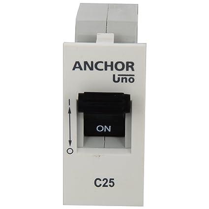 Anchor Roma Mini MCB, White, 25 amp