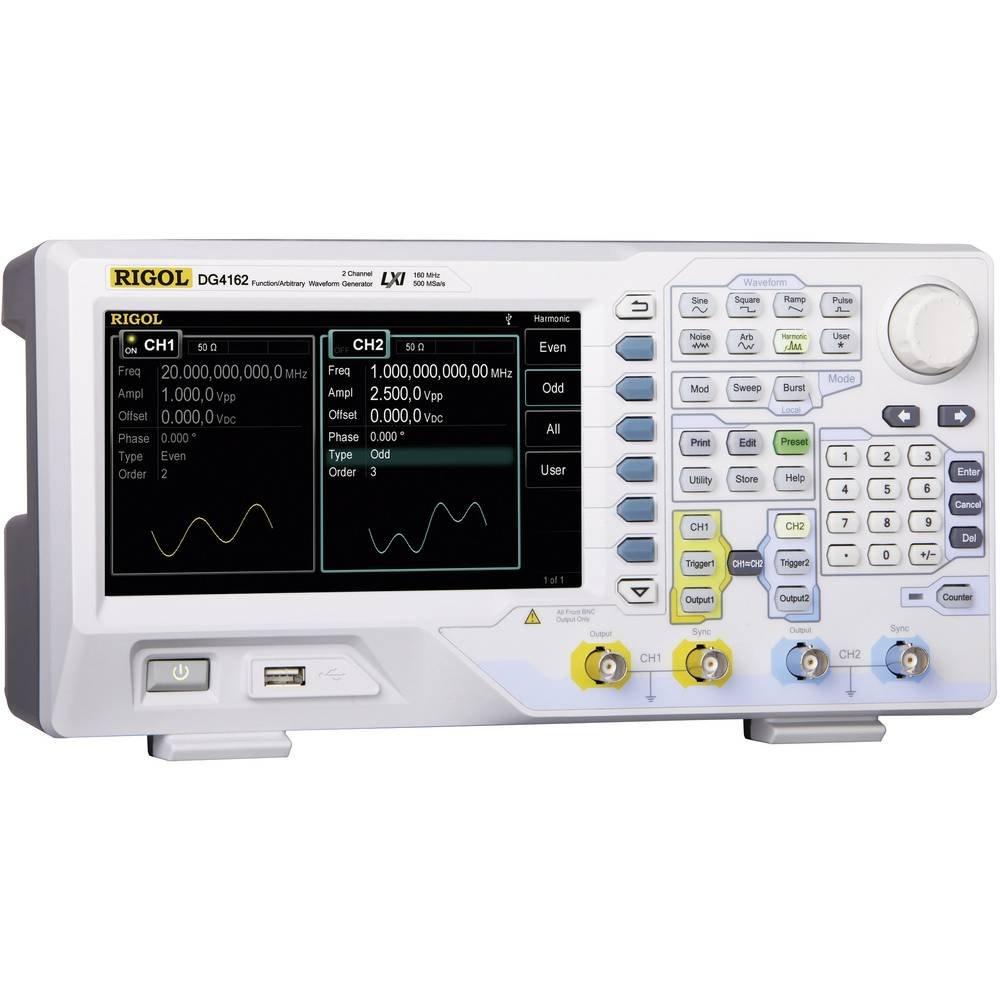 60 MHz a 2 canali con risoluzione vertical Rigol DG4062 Generatore di funzioni arbitrarie con range di frequenza 1 /µHz