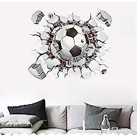 SITAKE Pegatinas de fútbol 3D, pegatinas de pared de fútbol para dormitorios para niños, 3D, pegatinas de vinilo para…