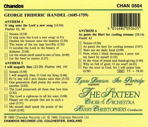 Handel: Chandos Anthems No. 4, 5, and 6 (Chandos Anthems, Vol. 2) by chandos