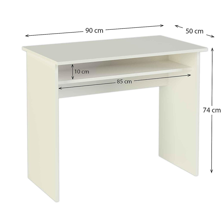 Meka Block K 9465B Scrivania 90 cm di larghezza colore bianco Amazon Casa e cucina