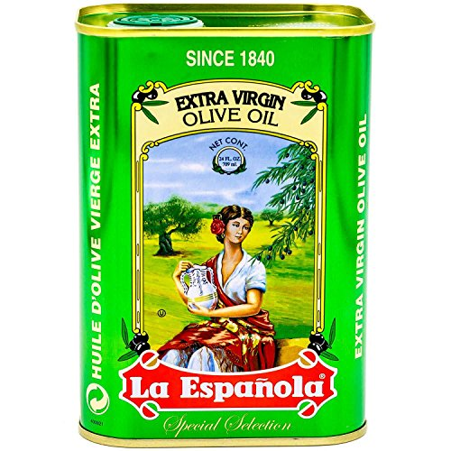 Price comparison product image La Española Extra Virgin Olive Oil,  24 fl oz,  100% Extra Virgin Olive Oil,  First Cold Pressed from Extra Virgin Olives,  Best Olive Oil from Spain in Beautiful Tin