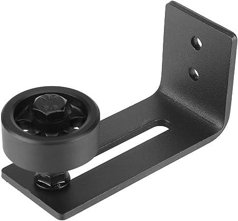 Color: Black Carbon Steel Roller Guide Adjustable Wall Floor Roller Guide Bottom Floor Guide Set Adjustable Wheel Sliding Door for Bottom of