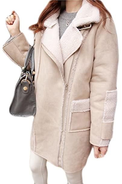 La Mujer Elegante Collar Oversize Faux Fur Winter Warm Chaqueta Outcoat Tunica: Amazon.es: Ropa y accesorios