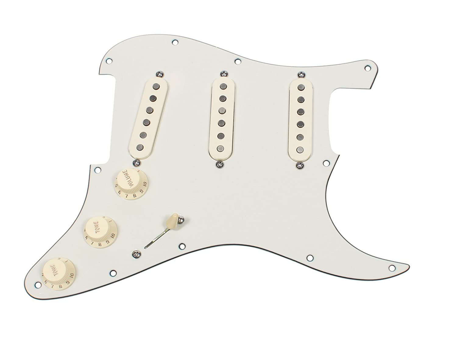 Fender Vintage Noiseless Stratocaster Pickups Set Amazon Com >> Amazon Com Fender Strat Loaded Pickguard Vintage Noiseless