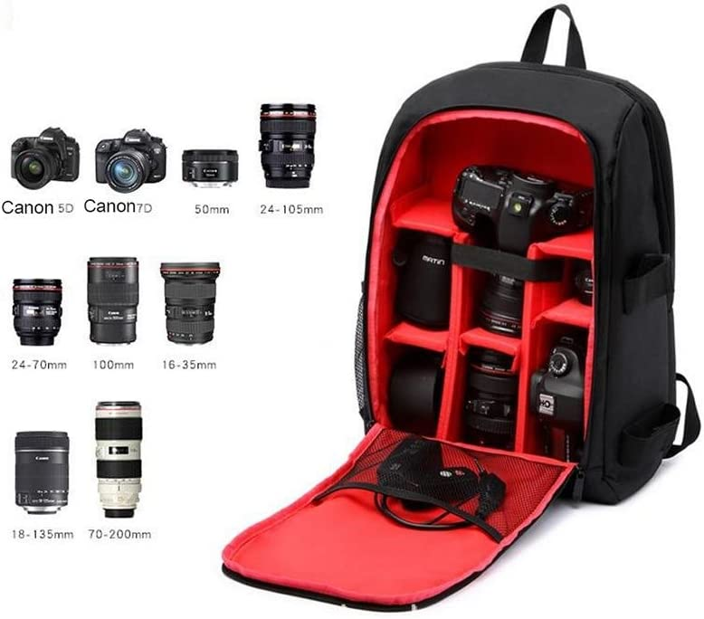 Purple ZGSP Photography Multi-Functional Digital DSLR Camera Bag Backpack Waterproof Photo Camara Bags Case for Photographer