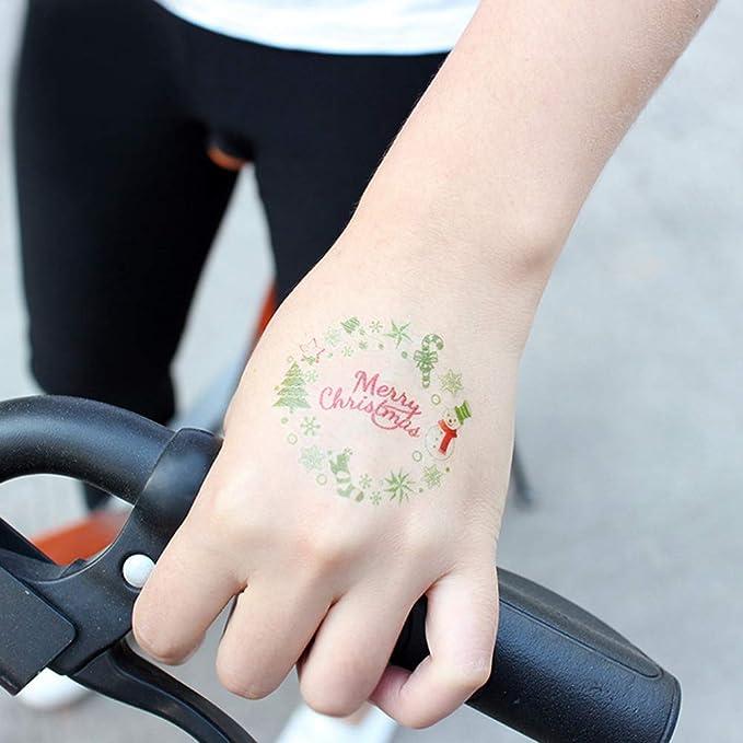 Frcolor 12 unids Navidad Pegatinas de Tatuaje Temporal de Papá ...