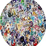 Pokémon Pack Cool Sticker, 102 pcs Laptop Stickers Vinyl Waterproof Sticker Office Water Bottles Skateboard Motorcycle Bicycle Luggage Decal Graffiti Patches for Teen Kid Child Student
