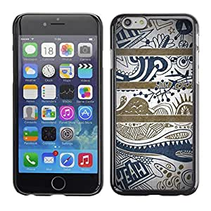ka ka case unique design personality Blue Text Clean Pretty Pattern - iPhone 6 Plus 5.5