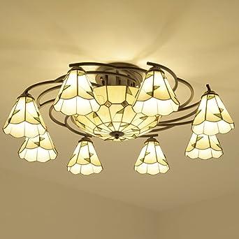 Redondo lámpara de techo en el Mediterráneo lámparas rústicas lámparas de cristal simple dormitorio europeo-