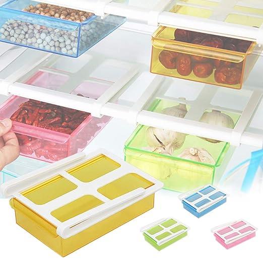 EFGS Plástico Cocina Refrigerador Nevera Almacenamiento Estante ...