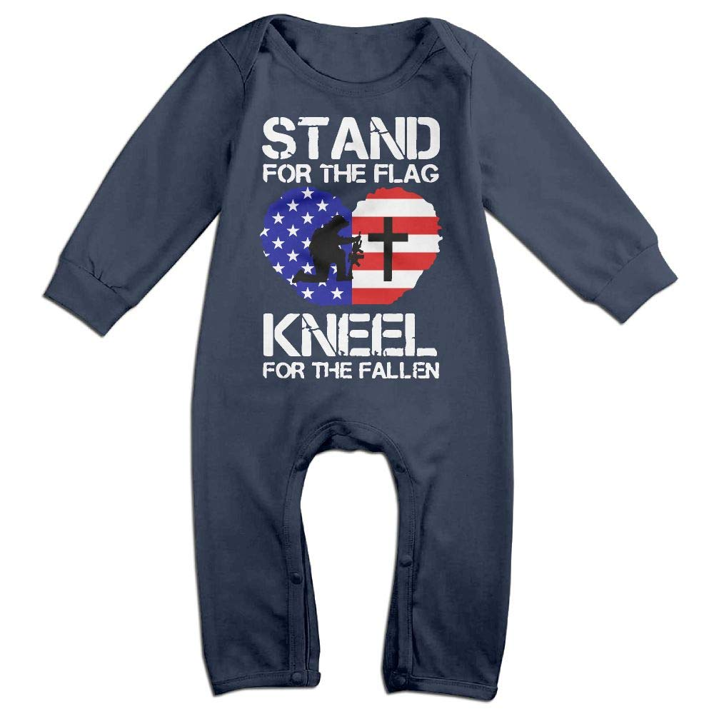 Mri-le1 Baby Girl Bodysuits Stand for The Flag Kneel for The Fallen2 Kid Pajamas