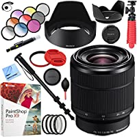 Sony SEL2870 FE 28-70mm F3.5-5.6 OSS Full Frame E-Mount Lens with 55mm Filter Sets Plus Dual Lens Hood Accessory Bundle