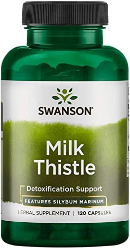 Swanson Milk Thistle Standardized 250 Milligrams 120 Capsules