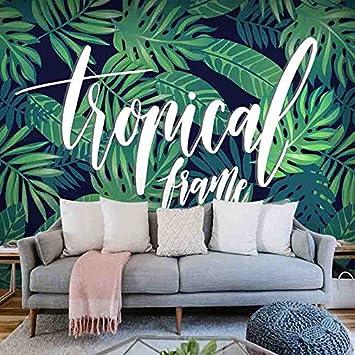 Wongxl La Foret Tropicale Feuille De Bananier Papier Peint Plantes
