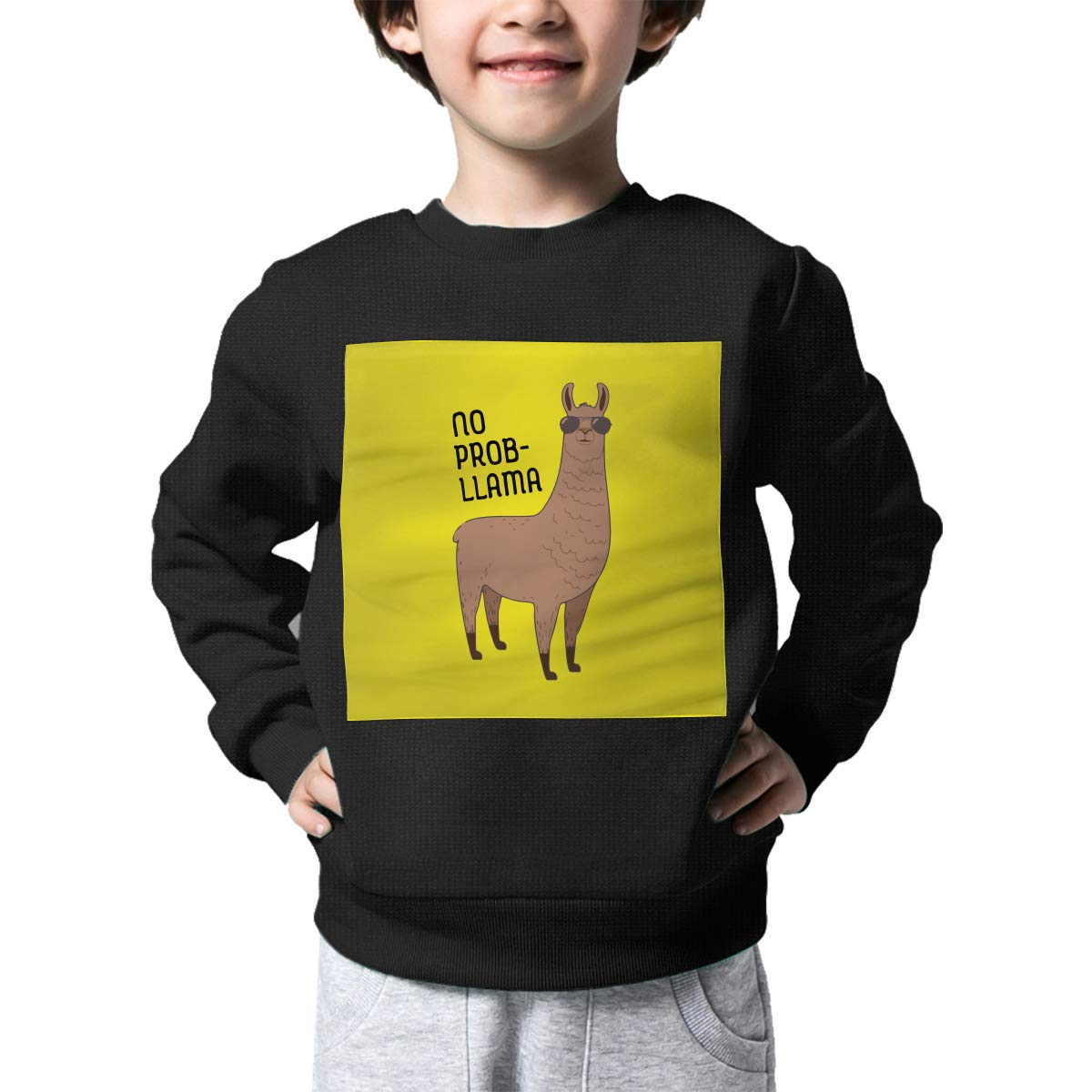 AW-KOCP Childrens Cool Llama with Sunglasses Sweater Kids Pullover Sweaters
