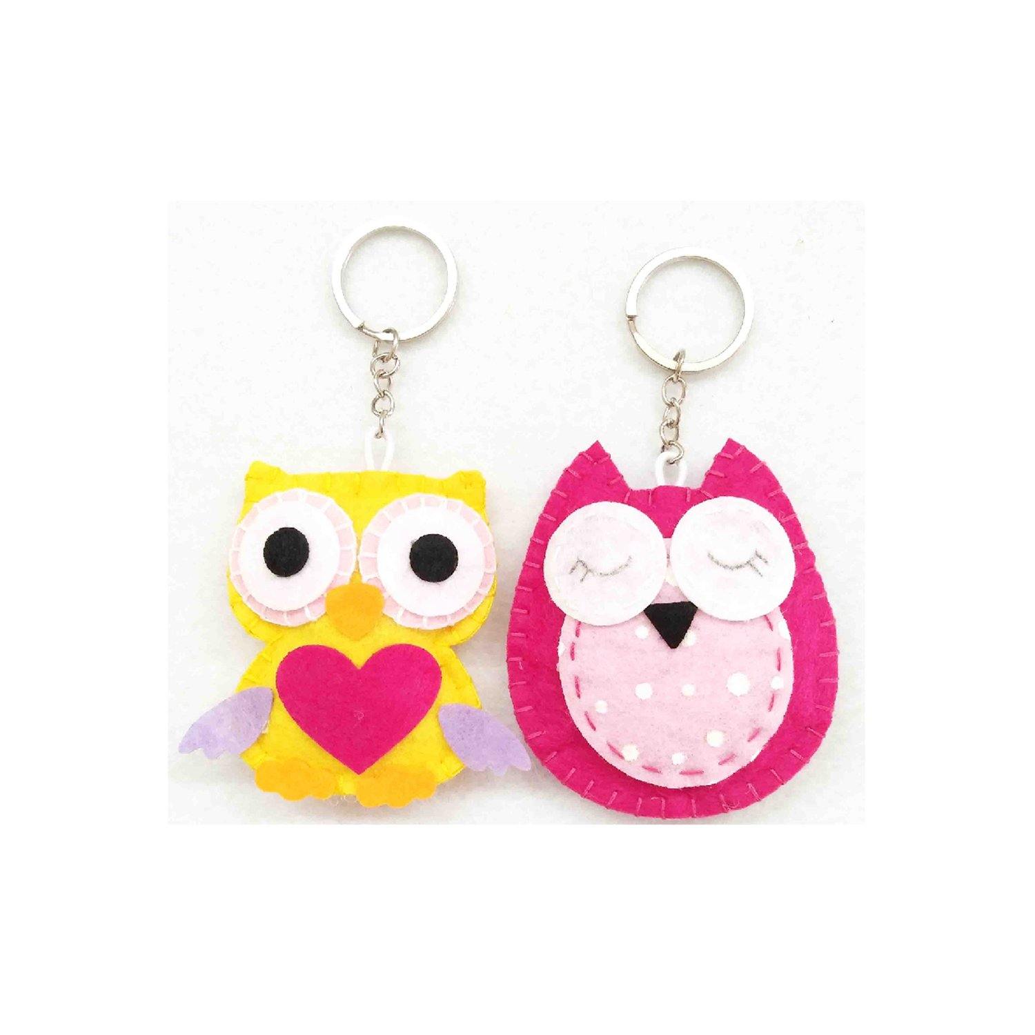 Amazon.com: innodept12 Sewing Kit Patchwork Owl: Felt and ...