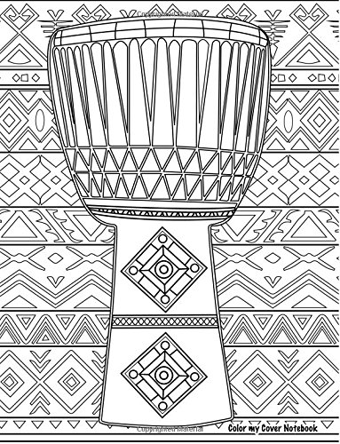 Color My Cover Notebook (drum, 200pg): Therapeutic notebook for writing, journaling, and note-taking with coloring design on cover for inner peace, ... Cover Notebooks and Journals) (Volume 56)
