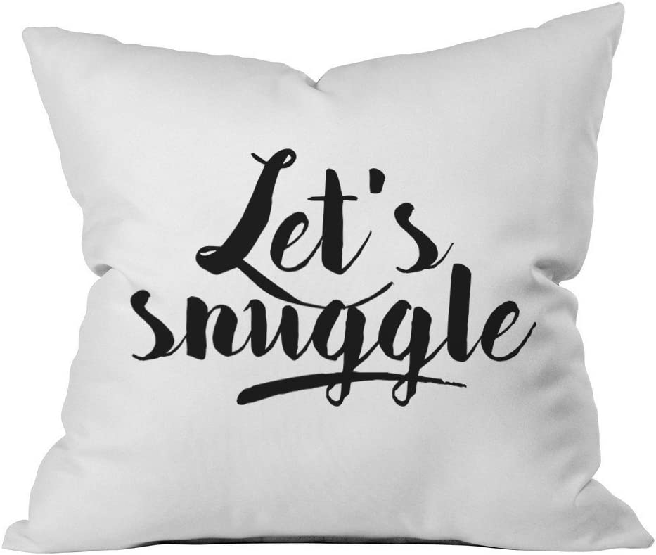 Oh, Susannah Let's Snuggle 18x18 Inch Throw Pillow Cover Boyfriend Girlfriend Gifts