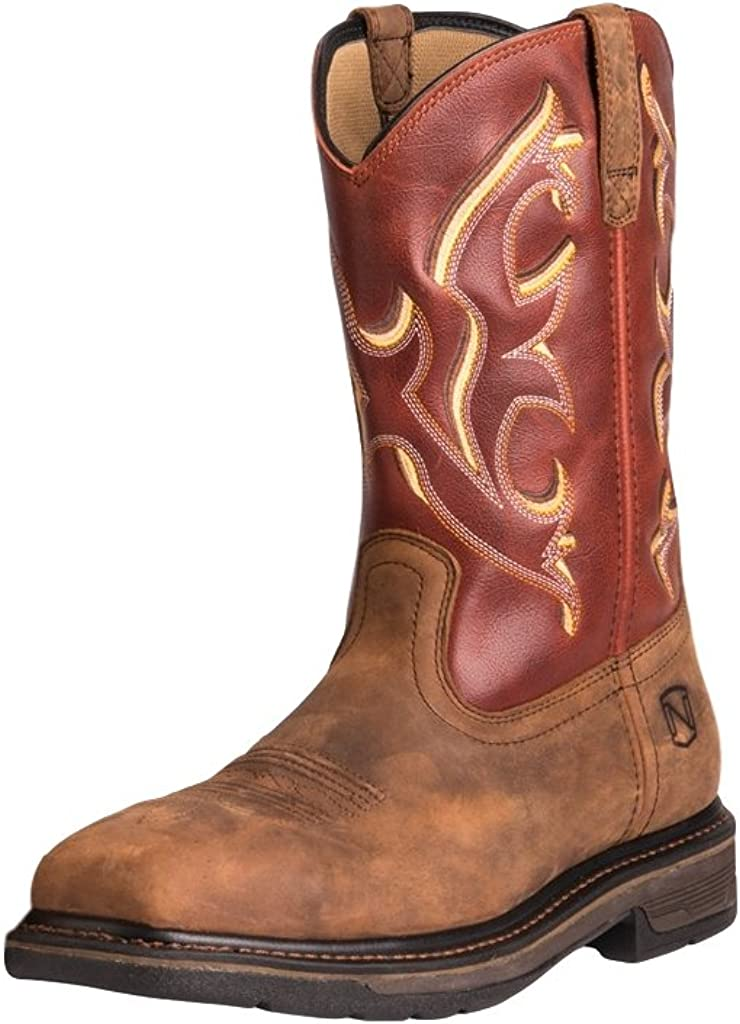 Noble Outfitters Work Boots Mens Ranch Tough ST 8 R Burnt Orange 65003