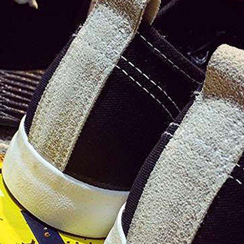 en Hommes Toile Chaussures Chaussures Chaussures Hommes Style Nouveau Color Casual Chaussures Bateau Chaussures Tendance Homme Printemps Toile Gray 39 Coréen Sauvage Black Style YaNanHome Size qpH7AxwC